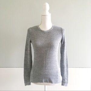 LOFT Gray Waffle Knit Sweater